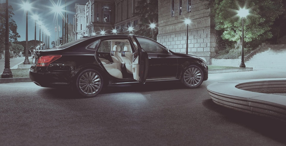 Auto met deur open